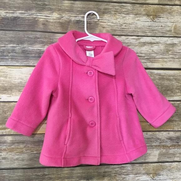 Gymboree Other - Gymboree Jacket Fleece Pink Pea Coat Toddler Girl